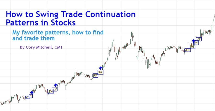 how to swing trading continuation patterns in stocks