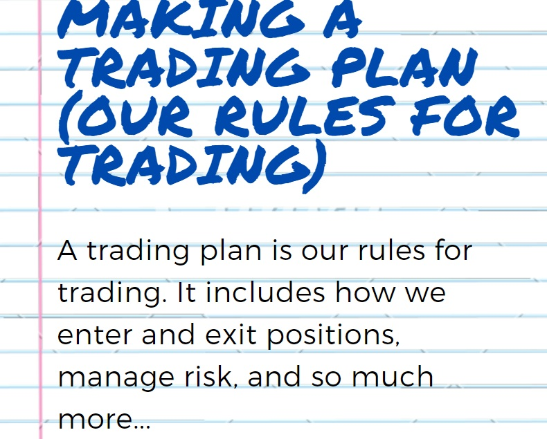 how to make a complete trading plan